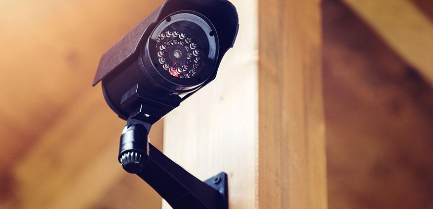 Kameraövervakning på den egna gården